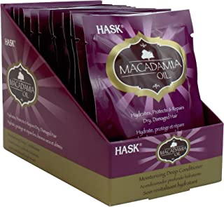 HASK MACADAMIA OIL Deep Conditioner Treatments Moisturizing for all hair types, color safe, gluten-free, sulfate-free, par...