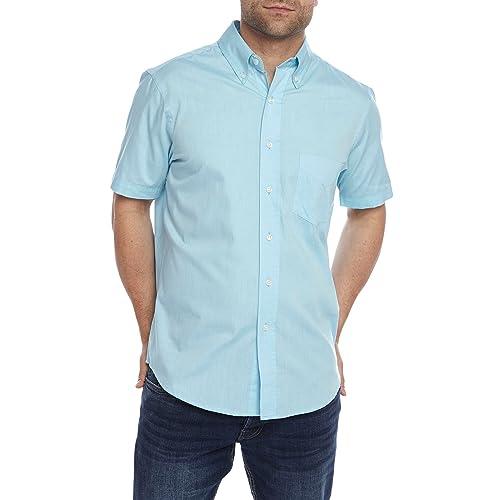 Charles Wilson Mens Short Sleeve Linen Shirt