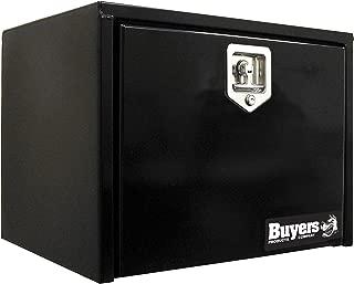 Buyers Products Black Steel Underbody Truck Box w/ T-Handle Latch (18x18x24 Inch)