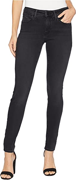 Adriana Mid-Rise Skinny in Dark Smoke Supersoft