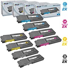 LD Compatible Toner Cartridge Replacement for Xerox Phaser 6600 & WorkCentre 6605 High Yield (2 Black, 2 Cyan, 2 Magenta, 2 Yellow, 8-Pack)
