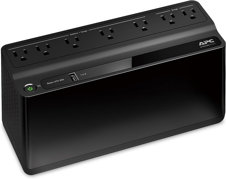 APC Back-UPS 600VA UPS Battery Backup & Surge Protector with...