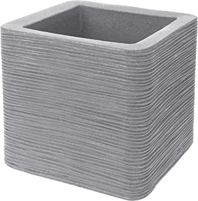 Kitchen Herb Pots Cube Planter Textured Attractive Slate Grey White Lime Green