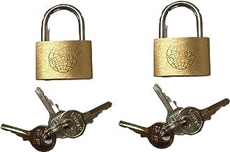 Set van 2 mini hangsloten 25 mm met 6 sleutels - klein hangslot slot slot voor dagboek, tassen, koffers, kettingen, boeke...