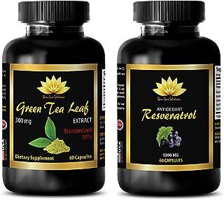 Anti-Aging Beauty Set - Green Tea Extract – RESVERATROL - resveratrol and Curcumin - Combo (2 Bottles)