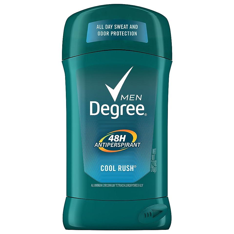 洗練細分化する安定しましたDegree 男性のオリジナル保護制汗デオドラント、クールラッシュ、2.7オズ(6パック)(パッケージングは??変更になる場合があります)
