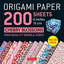 Origami Paper 200 sheets Cherry Blossoms 6 inch (15 cm): Instructions for 8 Projects Included: High-Quality Origami Sheets Printed with 12 Different Colors