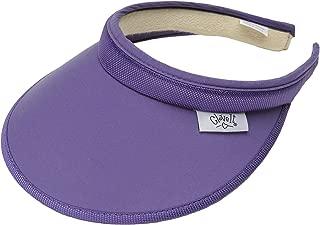 Women's Clip On Visor Glove It Golf & Tennis Head Visors for Women UV 50 Protection Ladies Sun Visor Hat Large Wide Brim Sports, Beach, Running, Softball Classic Solid Blue