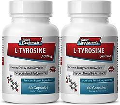 Tyrosine and Phenylalanine - L Tyrosine 500mg - Provides Biosynthesis (2 Bottles - 120 Capsules)