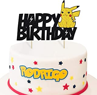 Swell Pokemon Cake Cupcake Toppers Amazon Com Funny Birthday Cards Online Eattedamsfinfo