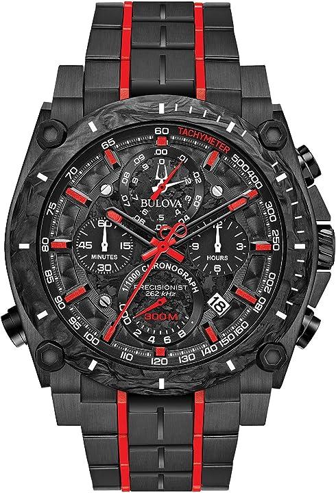 Bulova orologio cronografo quarzo uomo con cinturino in acciaio inox 98b313