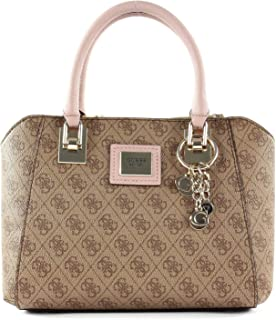 Guess Womens Satchel Bag, Brown Multi - SG766806