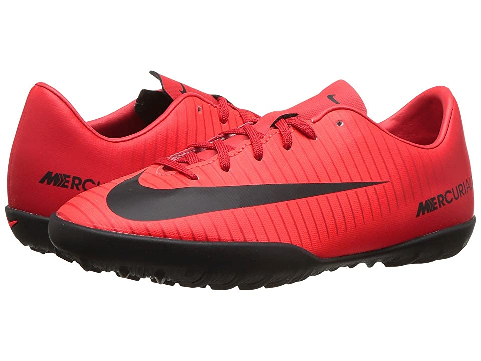Nike Kids JR Mercurial Vapor XI TF Soccer (Toddler/Little Kid/Big Kid) (University Red/Black/Bright Crimson) Kids Shoes
