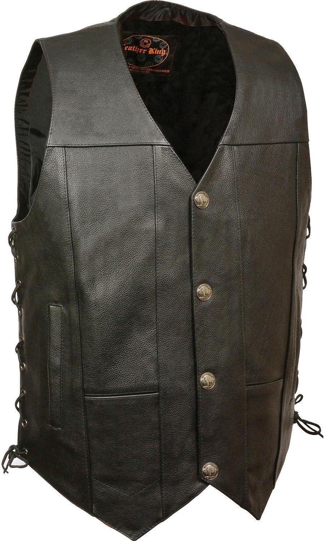 Men's Buffalo Snap Side SALENEW大人気! メーカー公式ショップ Lace Leather Vest Black Small