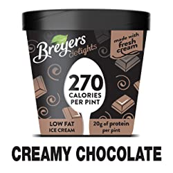 Breyers Delights Low Fat Ice Cream indulgence without the guilt Creamy Chocolate 100% Grade A milk &