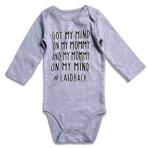 1681f8e81962 BFUSTYLE Baby Boys Girls Romper Funny Letter Print Bodysuit 0-18M