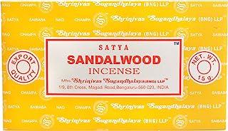 Satya Nag Champa Sandalwood Incense Sticks 15 grams x 12 Packs 180 Grams Total