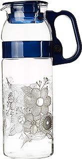 Borosil Marina Flora Glass Jug, 1.3 litres, Transparent