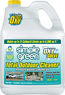 Oxy Solve Total Outdoor Pressure Washer Cleaner - Removes Stains, Mold, and Dirt on Patios, Furniture, RVs, Vehicles, Boat...