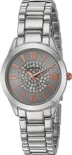 Geneva Women's GV/1005SVRT Crystal Accented Silver-Tone Bracelet Watch
