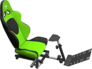 OpenWheeler Advanced Racing Seat Driving Simulator Gaming Chair with Gear Shifter Mount Green