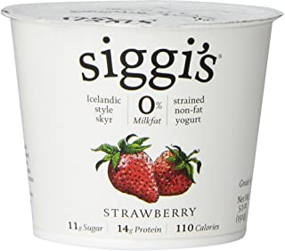 Siggis Skyr Strawberry Icelandic Style Yogurt, 5.3 Ounce - 12 per case