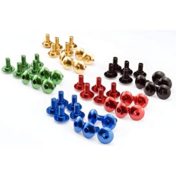 Abmessung//Farbe:rot eloxiert Verkleidungsschrauben 5mm Auto Motorrad Roller Aluminium rot blau schwarz gold gr/ün Alu farbig bunt 13 und 16mm lang Menge:10er Set 13mm