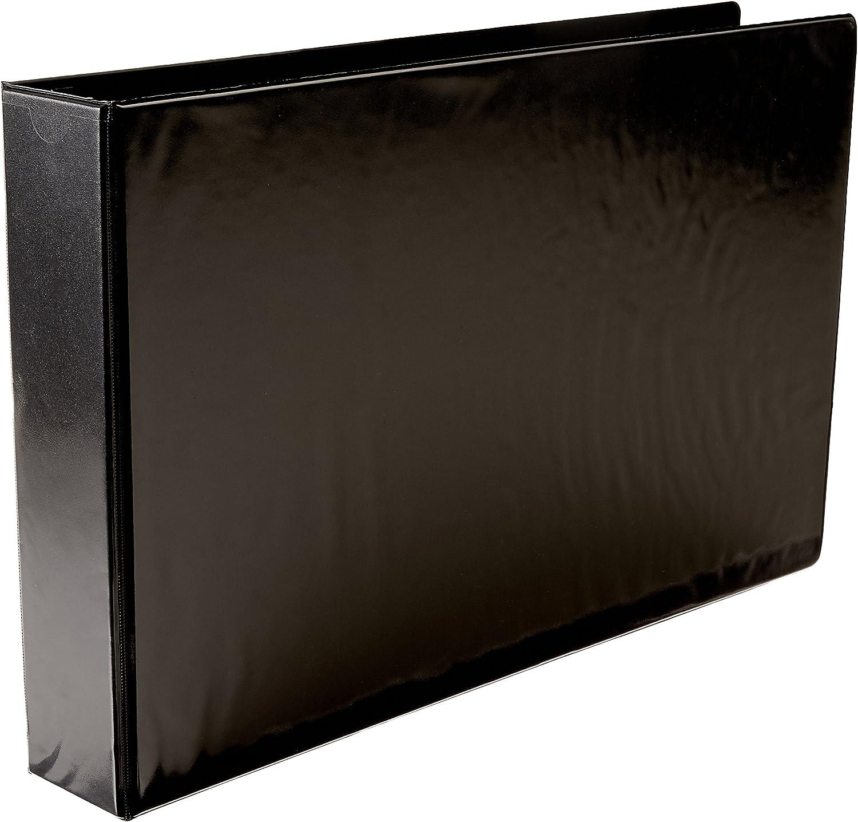 Ruby Max 86% OFF Brand new Paulina A3 2'' Angle-D Ring Binder Black Vinyl View 717910