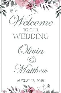Wedding Reception Sign, White Wedding Banner, Welcome to our Wedding, Wedding party Banner, Wedding Party Signs, Custom Wedding Sign, Handmade Party Supply Poster Print, Size 36x24, 18x24