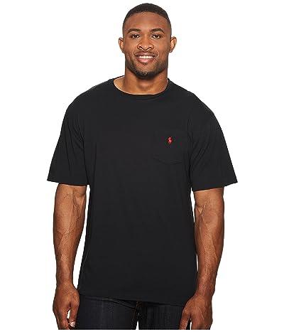 Polo Ralph Lauren Big & Tall Big and Tall Classic Fit Crew Neck Pocket T-Shirt (RL Black) Men