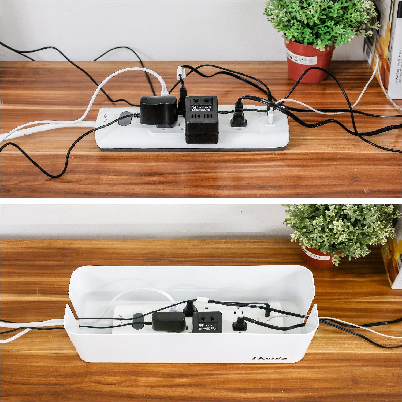 Homfa Caja para Cables Organizador de Cables Caja para Guardar ...