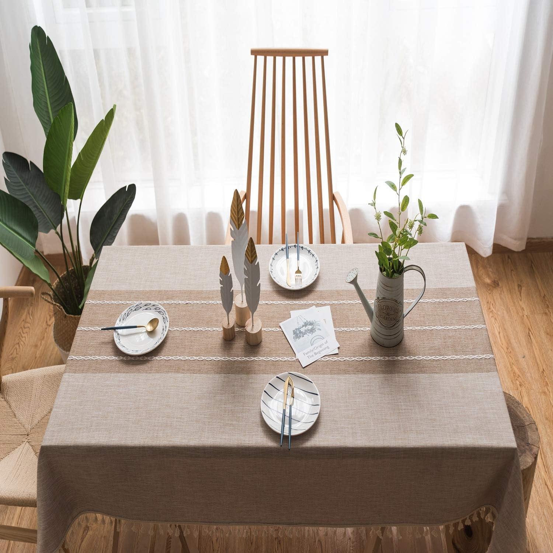 Suprehomeus Sales Embroidery shop Tablecloth Rectangle Cloth Cotton Table