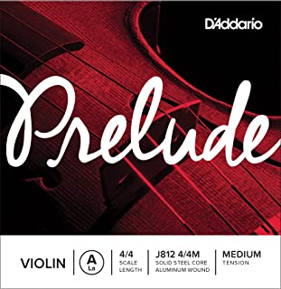 D'Addario Prelude Violin Single A String, 4/4 Scale, Medium Tension