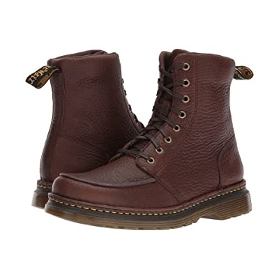 Dr. Martens Lombardo 8-Eye Boot (Dark Brown Grizzly) Men