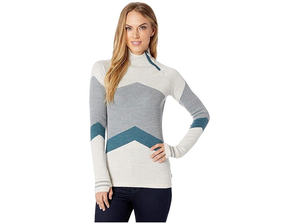 21af312189 Smartwool Dacono Ski Funnel Neck Sweater (Moonbeam Heather) Women s Sweater