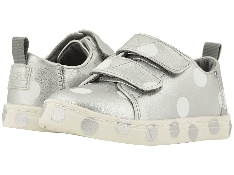 TOMS Kids Lenny (Infant/Toddler/Little Kid) (Silver Pearlized Synthetic Leather Dots) Girl