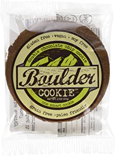 Boulder Bake Double Chocolate Chip Cookie - Grain and Gluten Free, Vegan, Non GMO, Low Carb, High Protein (6 pack)