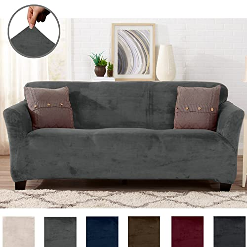 Grey Velvet Sofa: Amazon.com