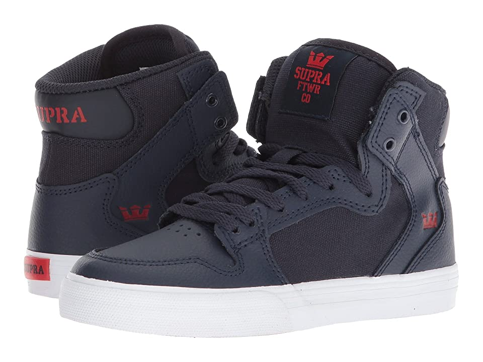 5c8444385586 Supra Kids Vaider (Little Kid Big Kid) (Navy Risk Red