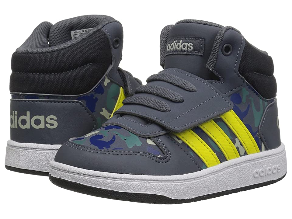 adidas Kids Hoops Mid 2.0 (Infant/Toddler) (Onix/Shock Yellow/Ash Silver) Kid