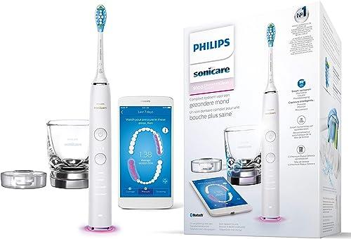 Philips Sonicare HX9901/03 Brosse À Dents DiamondClean Smart Connectée Via App Et Tête Intelligente - Blanc