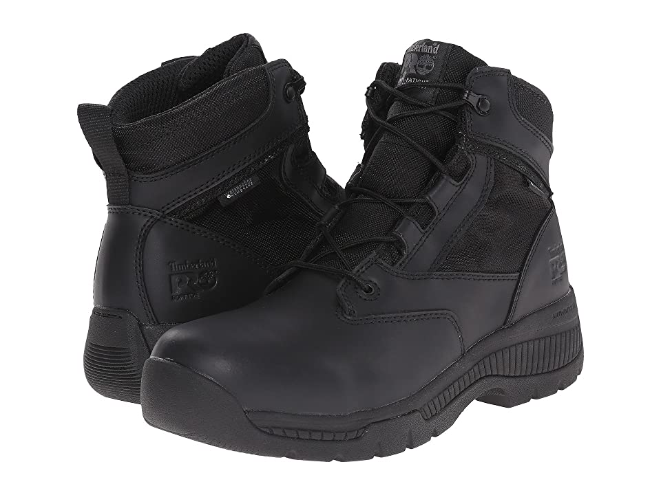 Timberland PRO 6 Valortm Duty Soft Toe Waterproof (Black) Men