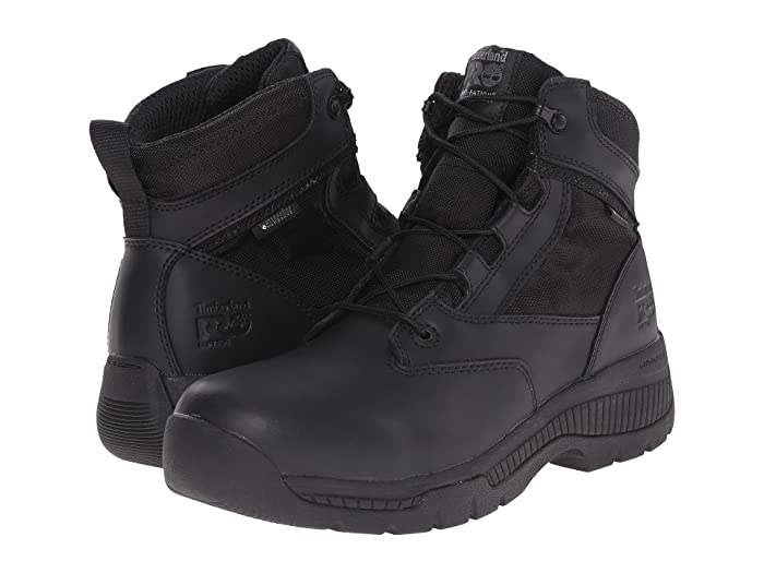 Timberland PRO  6 Valortm Duty Soft Toe Waterproof (Black) Mens Work Lace-up Boots
