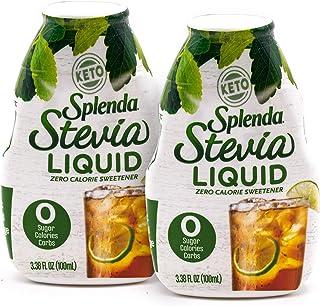 SPLENDA LIQUID Stevia Zero Calorie Sweetener drops, 3.38 Fl Oz Bottle (Stevia, 2 Pack)