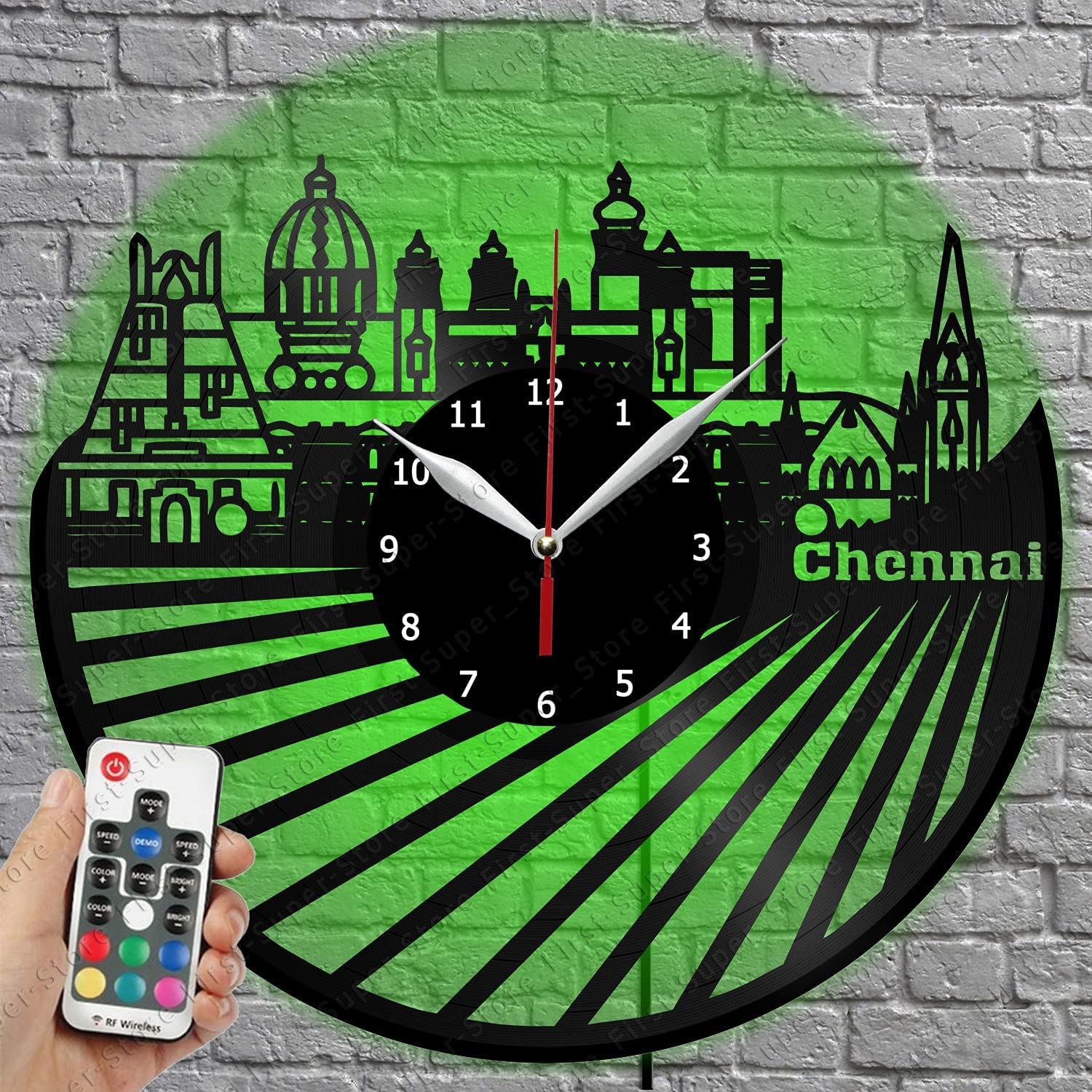 LED Vinyl Clock - Unique Al sold 4 years warranty out. Wall Chennai Light