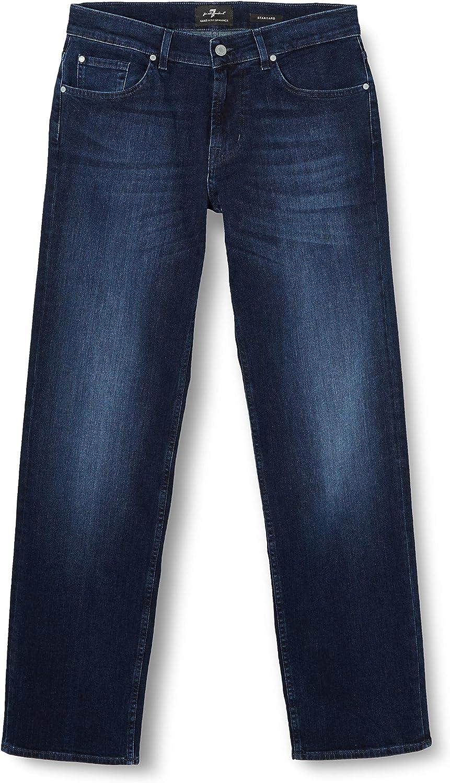 7 For All Mankind Herren Standard Straight Jeans Blau (Dark Blue Ai)