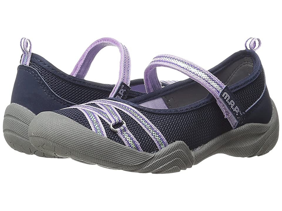 M.A.P. Lillith 4 (Little Kid/Big Kid) (Navy/Lilac) Girl