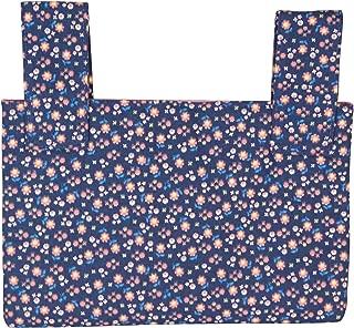 Qelse Designer Walker Bag 3-Pocket Tote Organizer Pouch Blue Floral Accessories for Beautiful Mobility