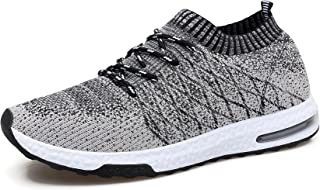 Men's Knit Breathable Comfortable Sneakers Lightweight Athletic Tennis Walking Running Shoes