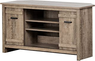 South Shore 11927 Exhibit Corner Stand, for TVs up to 42'', Weathered Oak